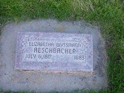 Elizabetha <i>Wyssmann</i> Aeschbacher