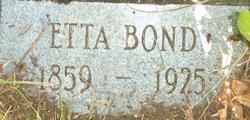 Henrietta Etta <i>Thurman</i> Bond