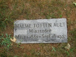 Maemee <i>Totten</i> Ault