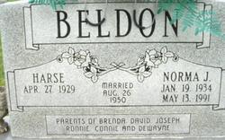 Norma J <i>Coppage</i> Beldon