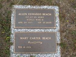 Mary <i>Carter</i> Beach