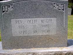 Rev Ollie McGee