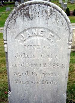 Jane E <i>Horton</i> Cole