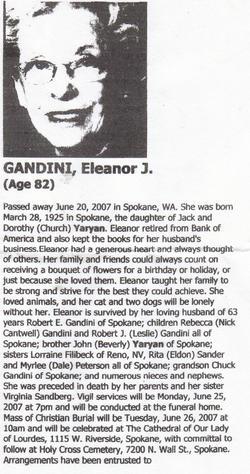 Eleanor J <i>Yaryan</i> Gandini