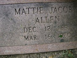 Mattie <i>Jacoby</i> Allen