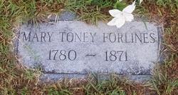 Mary <i>Toney</i> Forlines