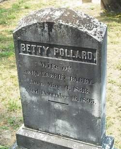 Elizabeth Pollard Betty <i>Fleet</i> Bagby