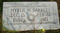 Myrtie <i>Whitlock</i> Barrett