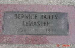 Bernice <i>Bailey</i> LeMaster