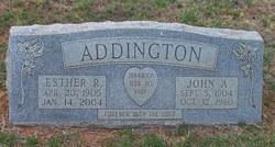 Esther Ruth <i>Green</i> Addington