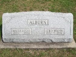 Mattie Martha <i>Lucas</i> Alburn