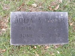 Julia A Baker