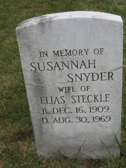 Susannah <i>Snyder</i> Steckle