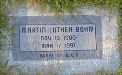 Martin Luther Bohm
