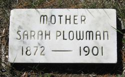 Sarah <i>Zeigler</i> Plowman