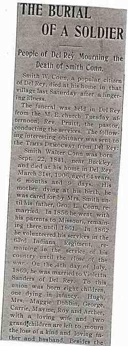 Pvt Smith Walter Conn