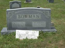 Mahala Odessa <i>Marshall</i> Bowman
