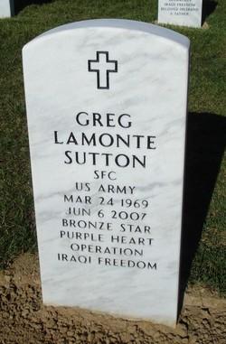Sgt Greg Lamonte Sutton