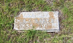 Martha Ann Frances <i>Pate</i> Baker