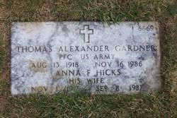 Anna F Hicks Gardner