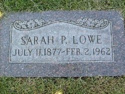 Sarah Patience <i>Paskett</i> Lowe