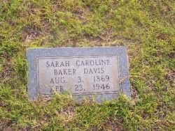 Sarah Caroline <i>Baker</i> Davis