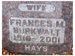 Frances M. <i>Few</i> Burkwalt