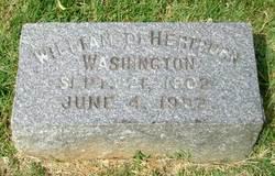 William Dehertburn Washington