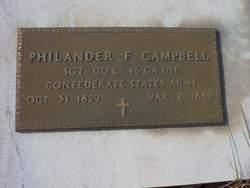 Rev Philander Fluellen Campbell