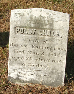 Polly <i>Chace</i> Burlingame