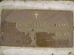 Pvt Lester Castle Adams