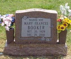 Mary Frances Mae <i>Bruner</i> Booker