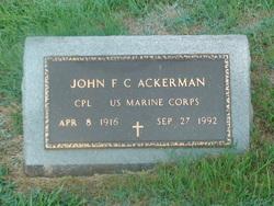 Corp John F.C. Ackerman