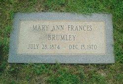 Mary Ann Frances Fannie <i>Eiland</i> Brumley