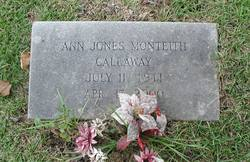 Ann Mary <i>Jones</i> Callaway