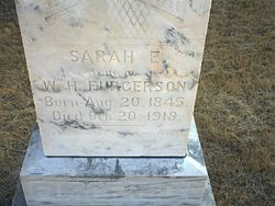 Sarah Elizabeth <i>Hathcox</i> Furgerson