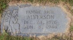 Mary Frances Fannie <i>Rich</i> Alverson