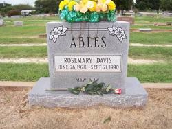 Rosemary <i>Davis</i> Ables