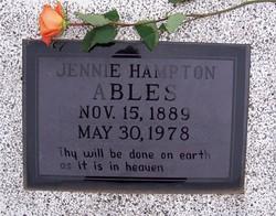 Jennie <i>Hampton</i> Ables