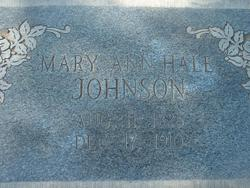 Mary Ann <i>Hale</i> Johnson