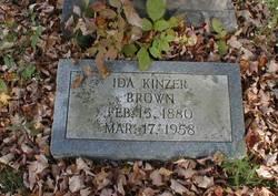 Ida <i>Kinzer</i> Brown