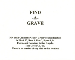 John Cleveland Jack Green