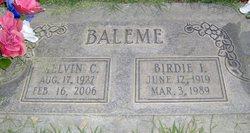 Birdie Irene <i>Benson</i> Baleme