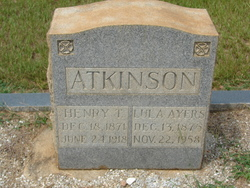 Lula Mary <i>Ayers</i> Atkinson