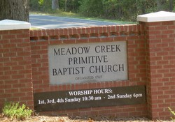 Meadow Creek Primitive Baptist Church Cemetery