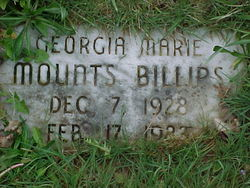 Georgia Marie <i>Mounts</i> Billips