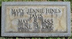 Mary Jennie <i>Hines</i> Tavis