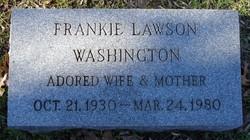 Frankie <i>Lawson</i> Washington