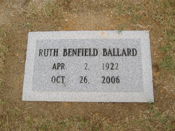 Alice Ruth <i>Benfield</i> Ballard