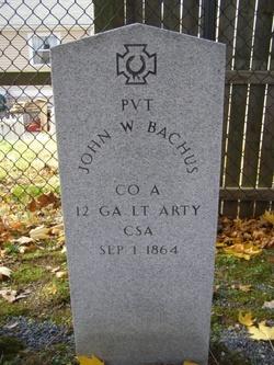 Pvt John W Bachus